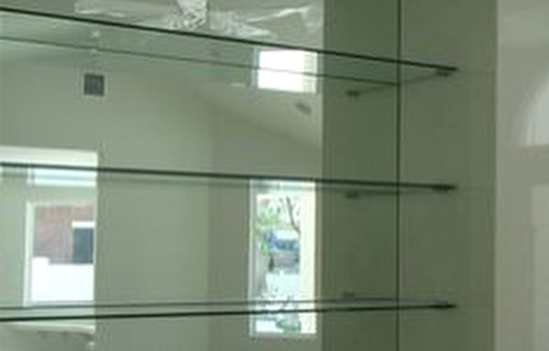 Commercial Fabricated Glass Shelves